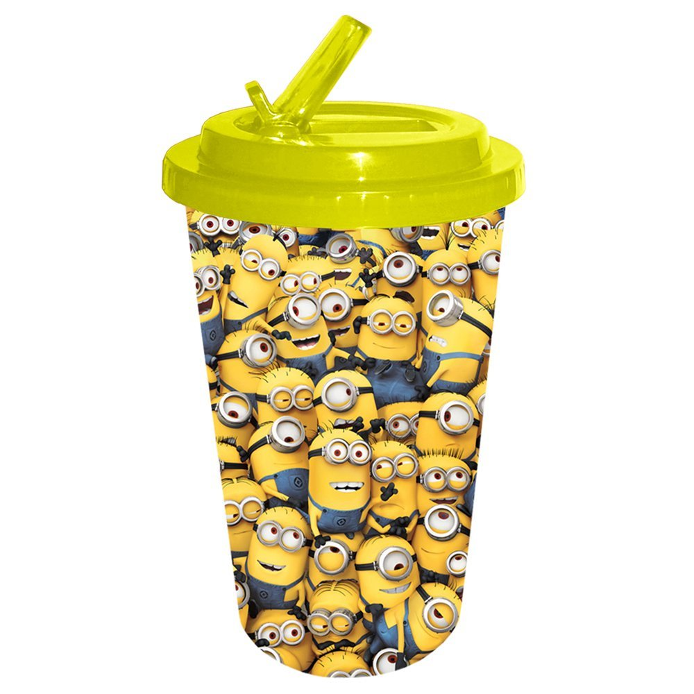 Despicable Me Cluttered Minions Flip Straw Cold Cup, 16 oz