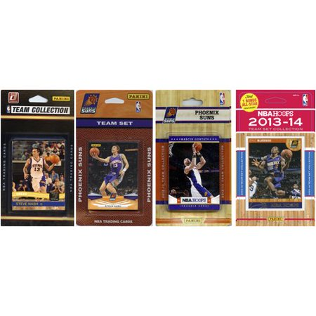 C Collectibles Nba Phoenix Suns 4 Different Licensed Trading Card Team Sets O S