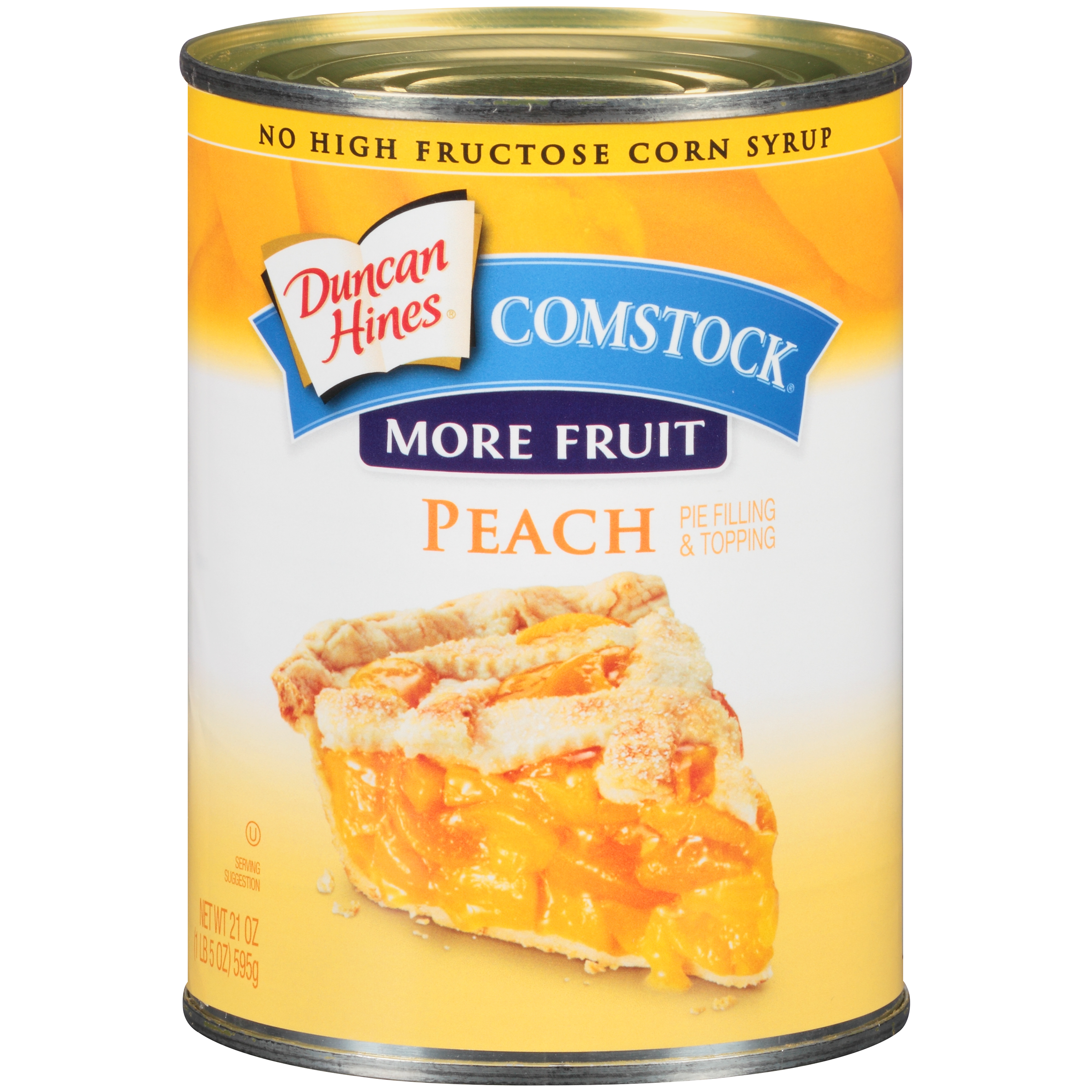 Duncan Hines Comstock More Fruit Peach Pie Filling & Topping 21 oz. Can by Pinnacle Foods