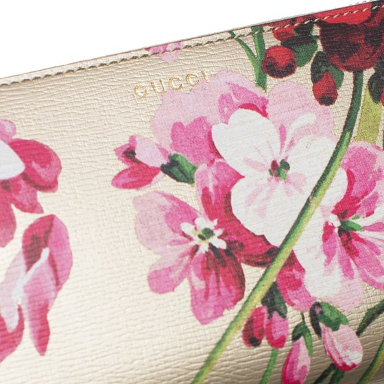 e69900d8b96 Gucci - Gucci Blooms Shanghai St Teal Green Blossoms Floral Leather Zip  Around Wallet Box New - Walmart.com