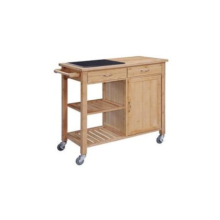 Bamboo Kitchen Island With Granite Top Walmart Com Walmart Com