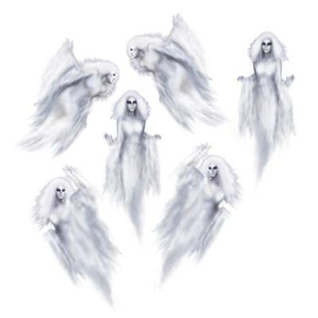 Club Pack of 72 Insta-Theme Assorted Ethereal Ghost Halloween Prop  Decorations 35