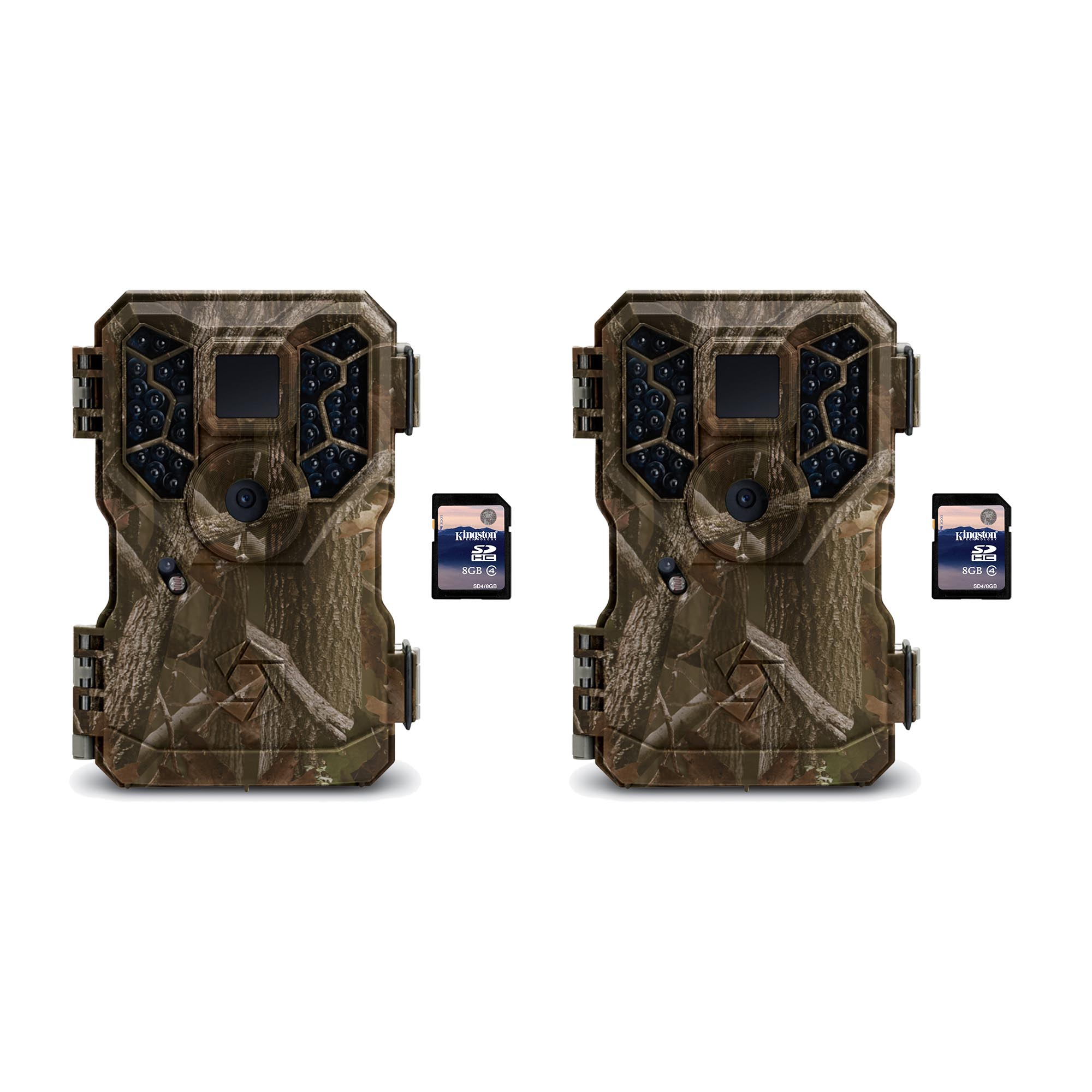 Stealth Cam PX36NG 8MP No Glo Infrared Trail Game Cameras (2 Pack) + SD Cards by Stealth Cam