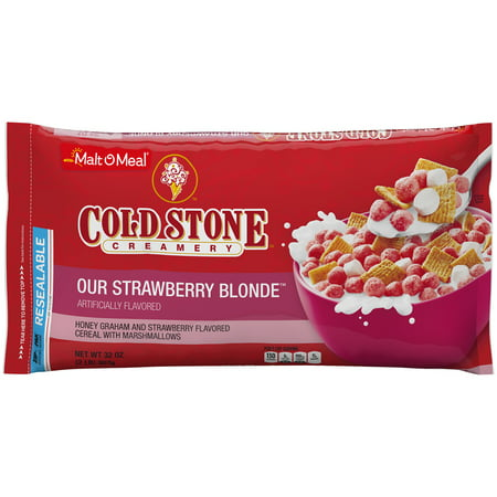 Malt-O-Meal, Cold Stone Strawberry Blonde Cereal, 32 Oz Bag (Health Valley Strawberry Cereal)