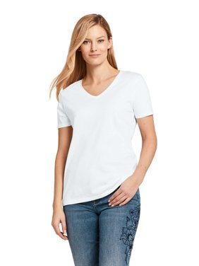 8f14f6083319d3 Product Image Women s Relaxed Supima V-Neck T-Shirt