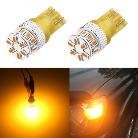 Alla Lighting 194 Amber Yellow LED Bulbs T10 2825 W5W 168 Extremely Super Bright Cars Trucks Boats RVs Interior Map Dome Exterior Side Marker Light (Set of 2)