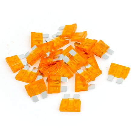 Car Truck Motorcycle Fast Acting  Fuse Orange 25 Pcs (40a Electronic)