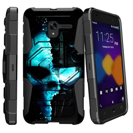 Alcatel Tru Case | Alcatel Stellar Case [ Armor Reloaded ] Extreme Rugged Protection Case with Holster and Kickstand - Cyborg