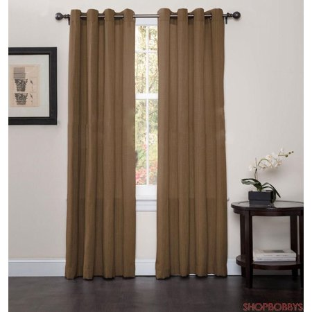 Broadway Grommet Top Curtains Set Of 2 Panels Brown Includes Curtain Each One Measures 54 Wide X 84 Long By Luxury Home Textiles From