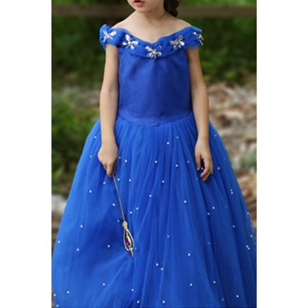 Kids Girls Sleeveless Ball Gown Cinderella Dress](Cinderella Gown)