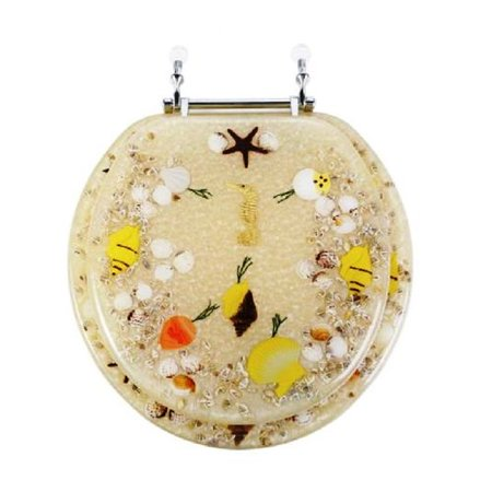Daniels Bath Sea Treasure Decorative Round Toilet Seat