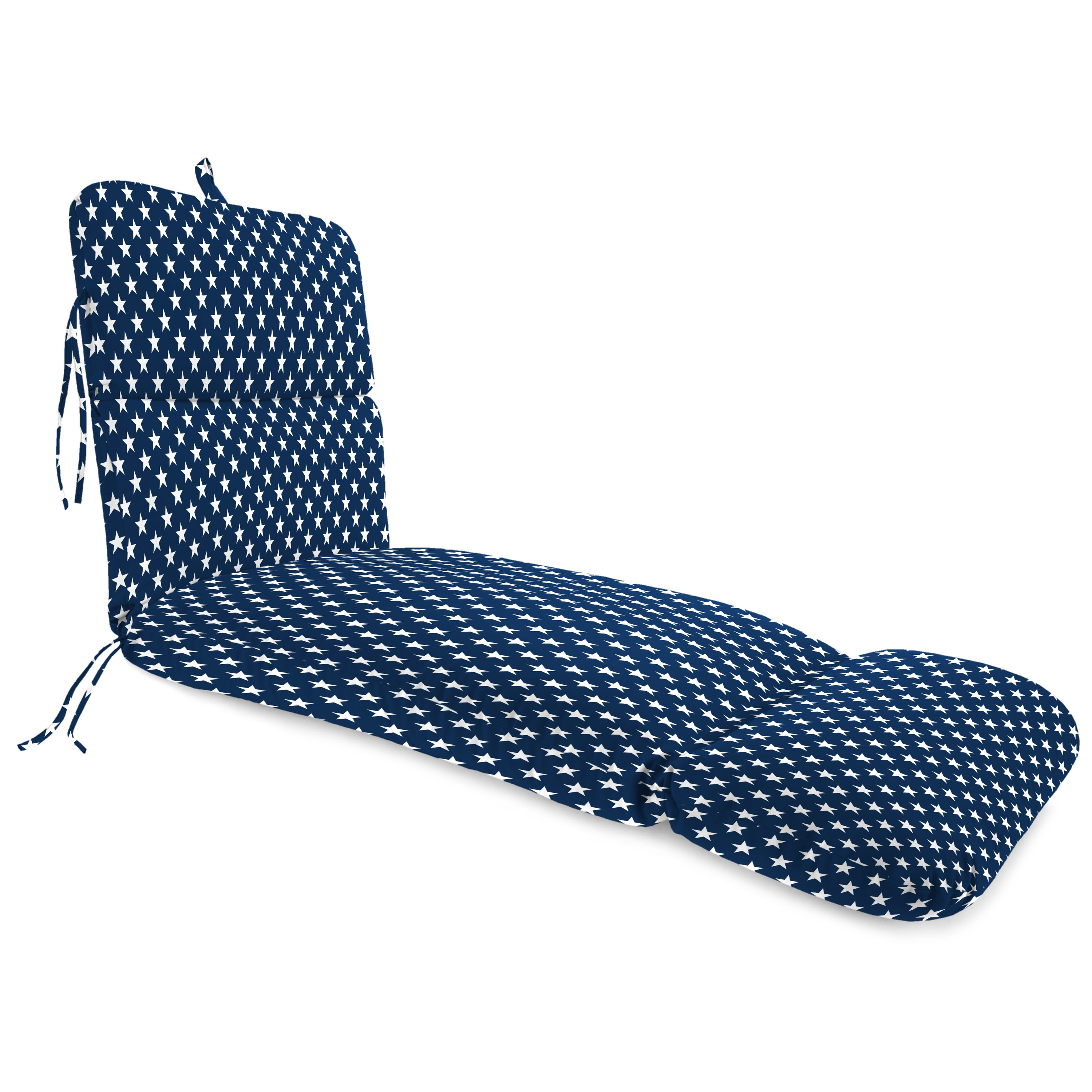 Jordan Manufacturing Outdoor Chaise Lounge Cushion, Stars Oxford