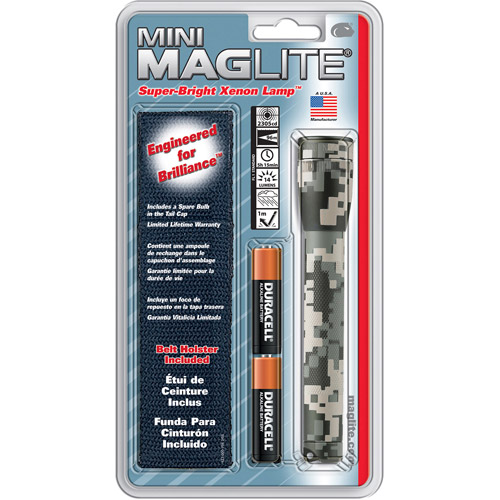 MAG Instrument AA Mini Maglite Flashlight Holster Pack, Camoᅡᄆ