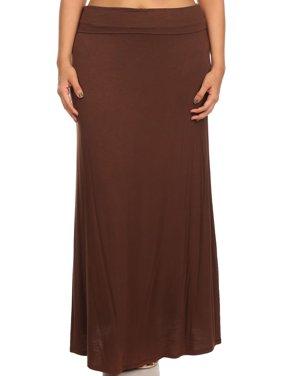 4e1928fa846 Product Image Plus size Women s solid maxi Skirt