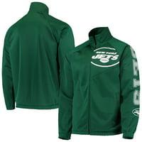 New York Jets G-III Sports by Carl Banks Synergy Track Full-Zip Raglan Jacket - Green