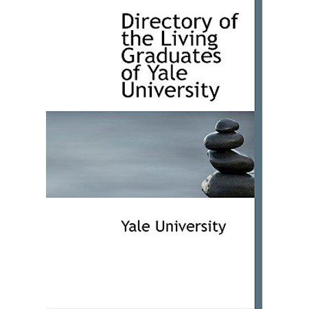 Directory of the Living Graduates of Yale University](Yale University Halloween Reddit)