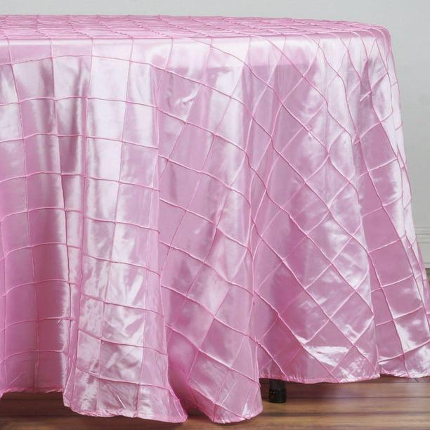 108 Pink Round Pintuck Tablecloth Walmart Com Walmart Com