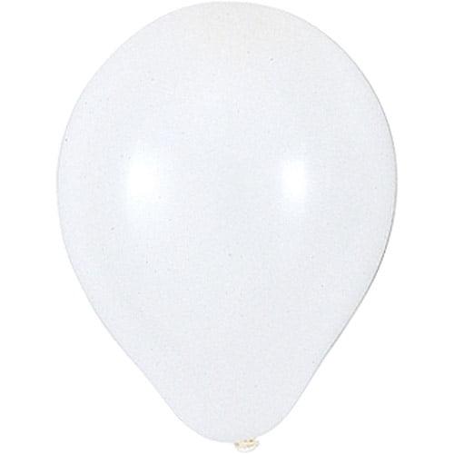 9'' Round Helium Quality Balloons - 25-Pack, White