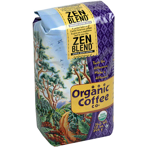 The Organic Coffee Co. Whole Bean Coffee, 12 oz (Pack of 6)