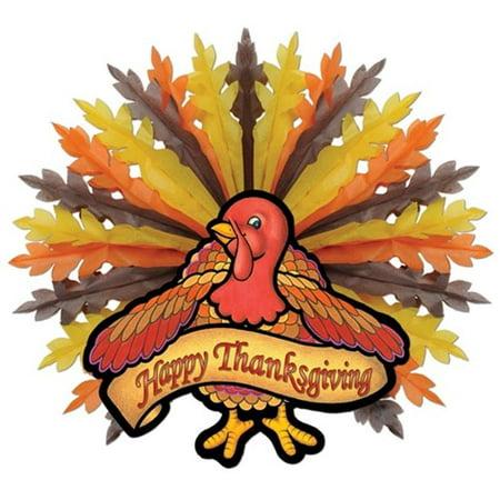 Thanksgiving Turkey Hanging Decoration (Pack of 6)