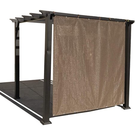 Alion Home Mocha Brown Sun Shade Privacy Panel with Grommets on 2 Sides for Patio, Awning, Window, Pergola or Gazebo  6' x 4' ()