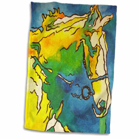 3dRose Horse and Bridle - bridle, equestrian, equestrianism, headstall, horse, horse owner, horse riding - Towel, 15 by 22-inch Equestrian Riding Gear