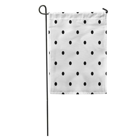 Gradient Dots - LADDKE Abstract Black Polka Dot Pattern Circle Dotted Fade Geometric Gradient Garden Flag Decorative Flag House Banner 12x18 inch