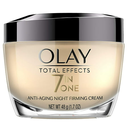Olay Total Effects 7 in 1 Anti Aging Night Firming Cream, 1.7 Oz + Eyebrow Ruler
