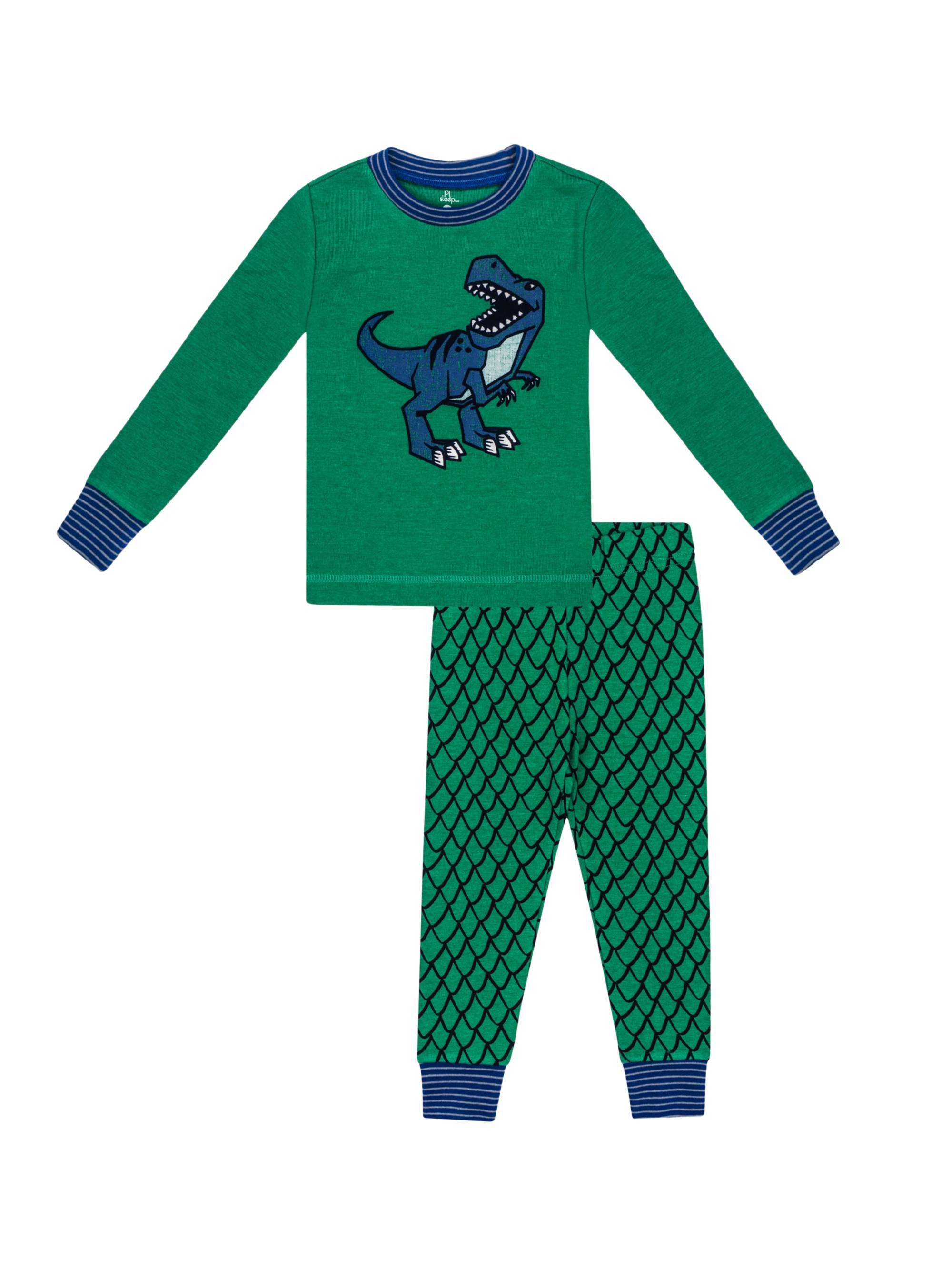 Boys' Dinosaur 2 Piece Pajama Sleep Set (Little Boy & Big Boy)