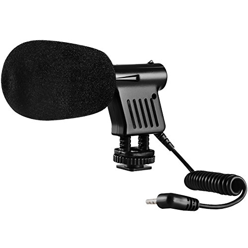 Kodak MIC-204 Mini Zoom Video Camcorder/Camera Shotgun Microphone with Bracket