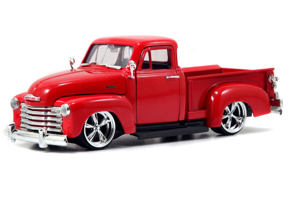 1953 Chevy Pickup Truck, Red Jada Toys Bigtime Kustoms 50117 1 24 scale Diecast Model Toy... by Jada