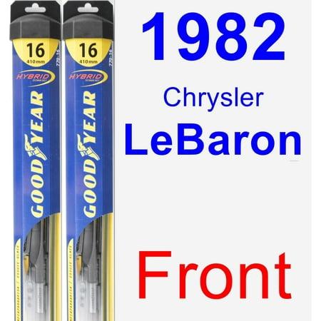 1982 Chrysler LeBaron Wiper Blade Set/Kit (Front) (2 Blades) - Hybrid