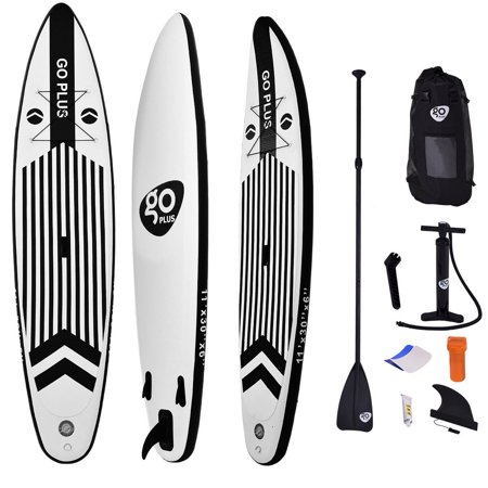 Goplus 11' Inflatable Stand Up Paddle Board w/ Adjustable Paddle Travel Backpack