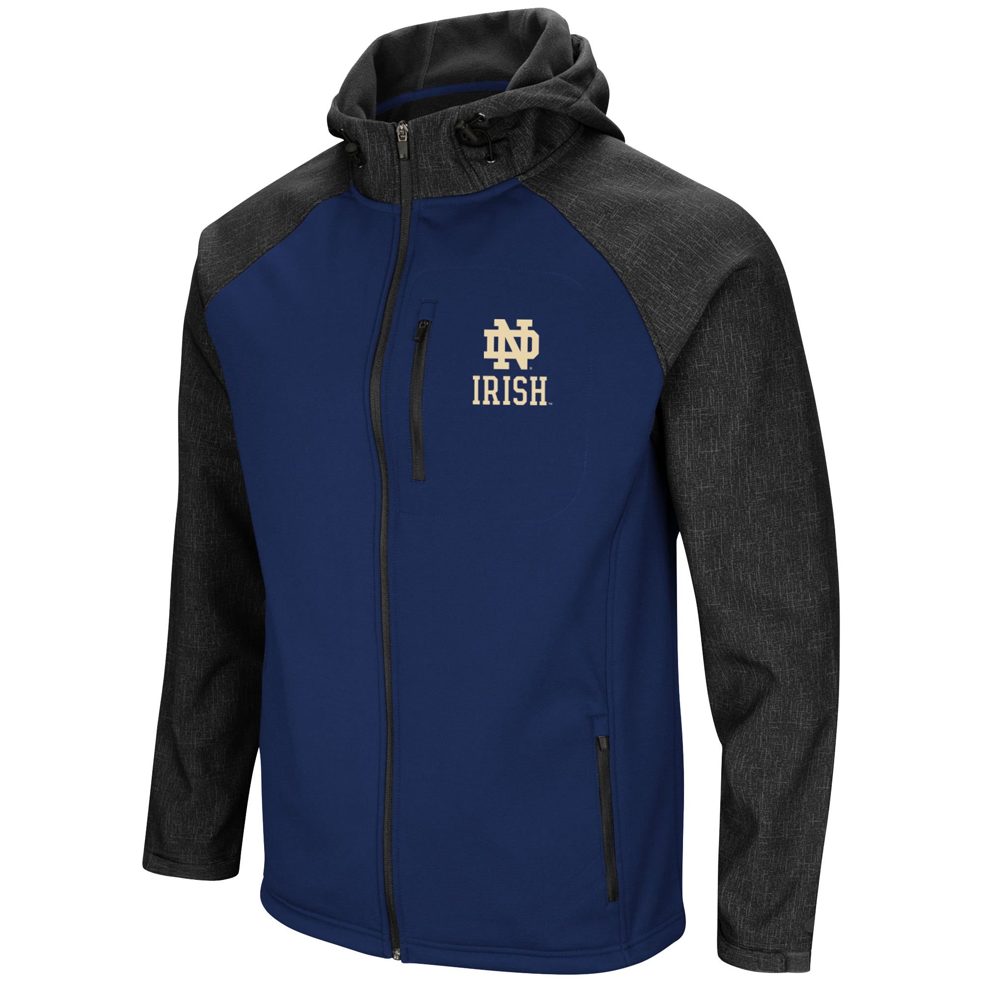 Colosseum Notre Dame Fighting Irish Mens Hut Full Zip Hooded Jacket-small