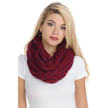 Basico Women Warm Circle Ring Infinity Scarf Neck Warmer ** Various Colors (Scarf Neck Warmer)
