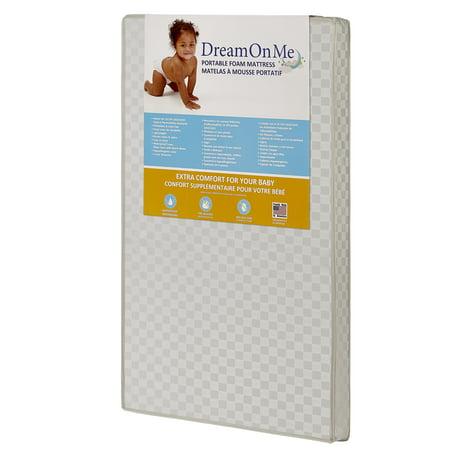 Dream On Me 3  Crib Mattress  Portable