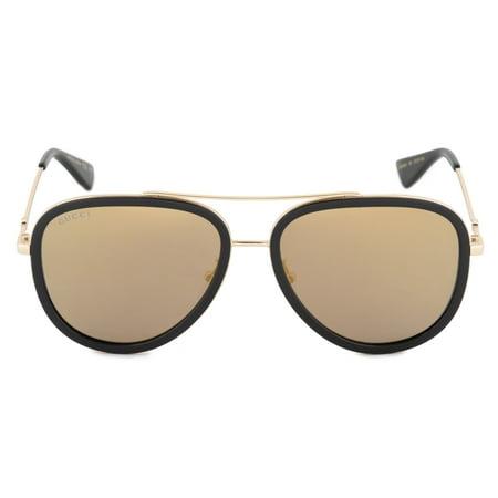 Gucci Aviator Sunglasses GG0062S 001 (Gucci Ladies Sunglasses)