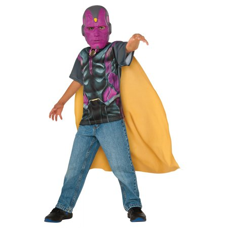 Marvel Superhero T Shirt Child Costume Vision - Small (Marvel Super Hero Costumes)