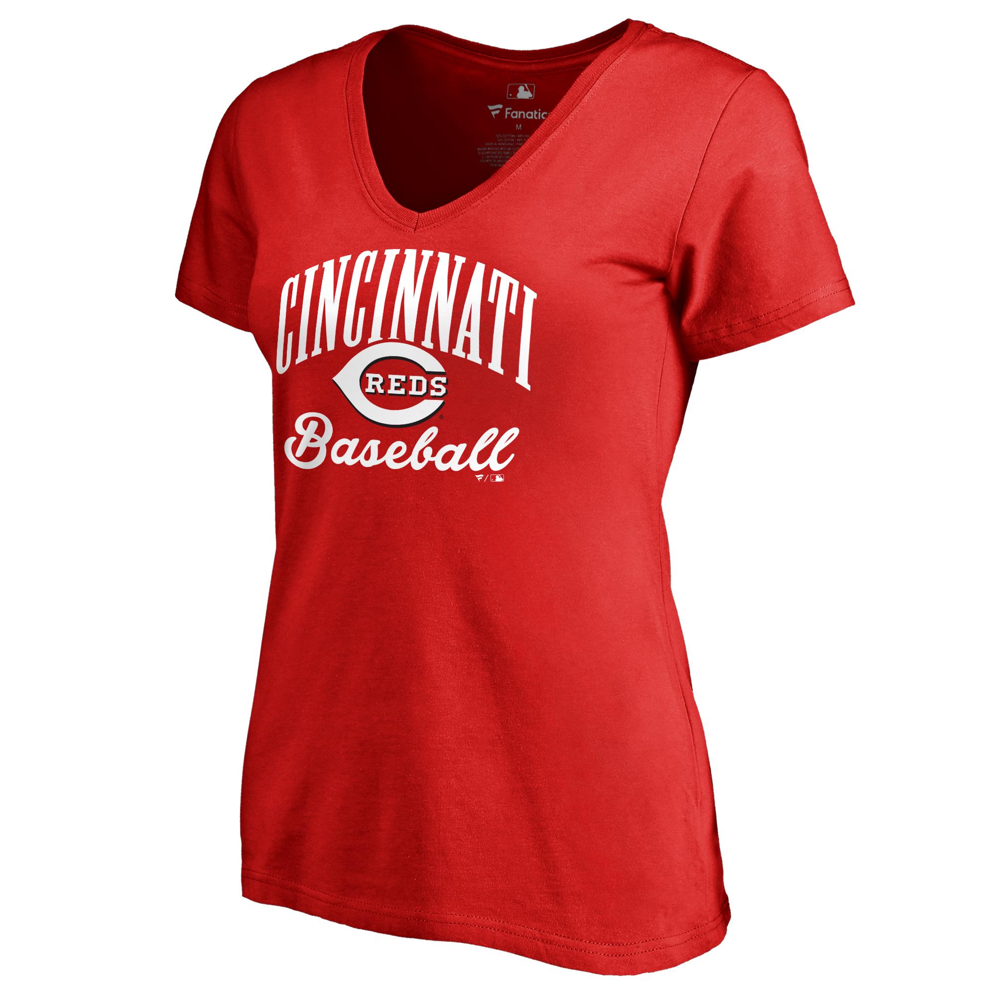 Cincinnati Reds Women's Victory Script T-Shirt - Red