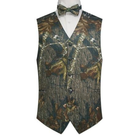 Camouflage Vest & Tie - Camouflage Hooded Vest