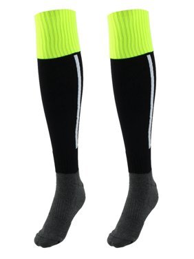 784defac169 Product Image Men Sport Knee High Elastic Cuffs Baseball Football Soccer Long  Socks Black Pair