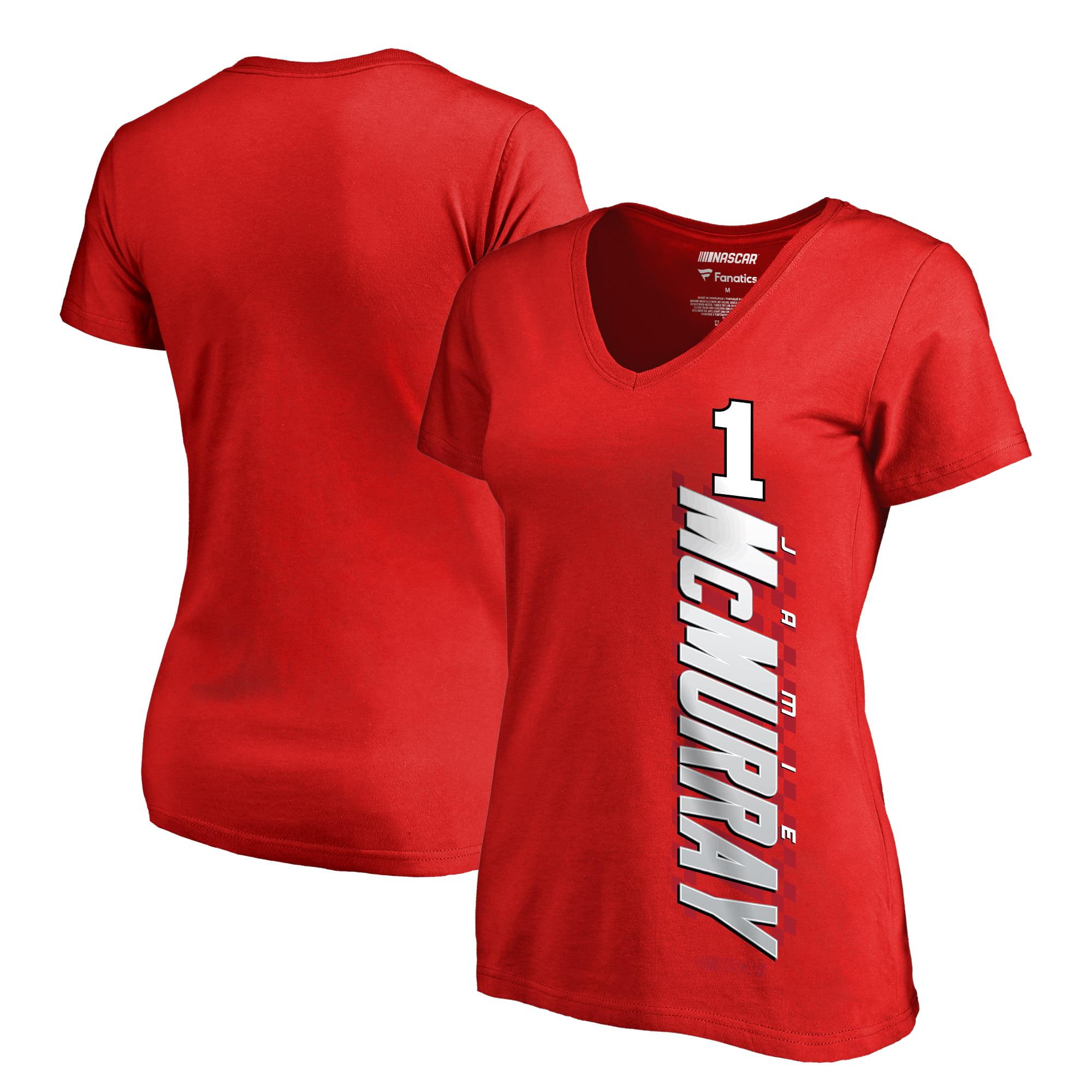 Jamie McMurray Fanatics Branded Women's Alternator T-Shirt - Red