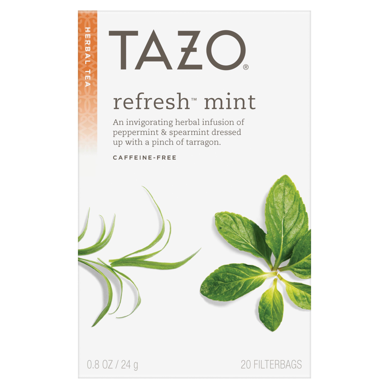 (3 Boxes) Tazo Refresh Mint Tea bags Herbal Tea 20ct