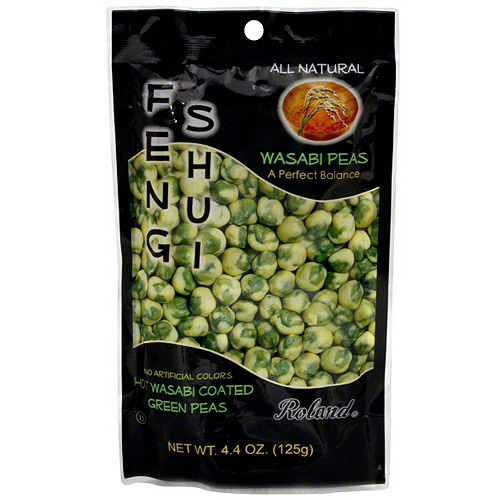 Roland Hot Wasabi Coated Green Peas, 4.4 oz (Pack of 12)