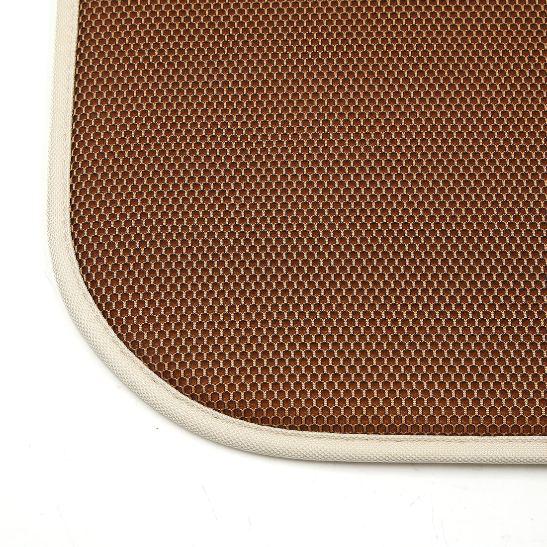 Universal Coffee Color Square Shaped Breathable Mesh Design Car Seat Cushion Mat - image 1 of 3
