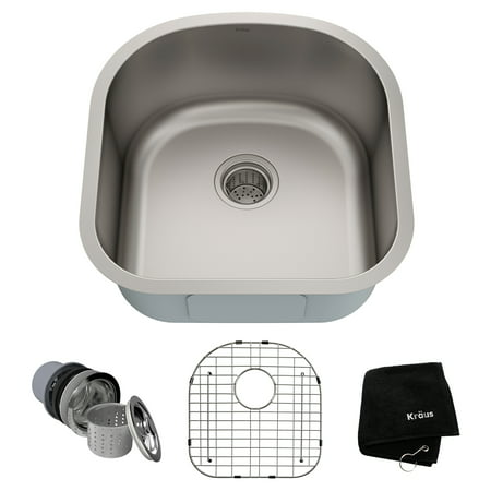 KRAUS Premier 20-inch 16 Gauge Undermount Single Bowl Stainless Steel Kitchen Sink
