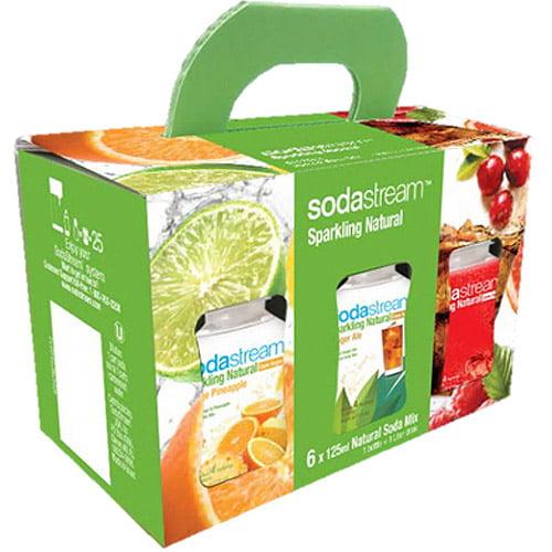 SodaStream Sparking Naturals Sample Pack, 6-Pack - Walmart.com