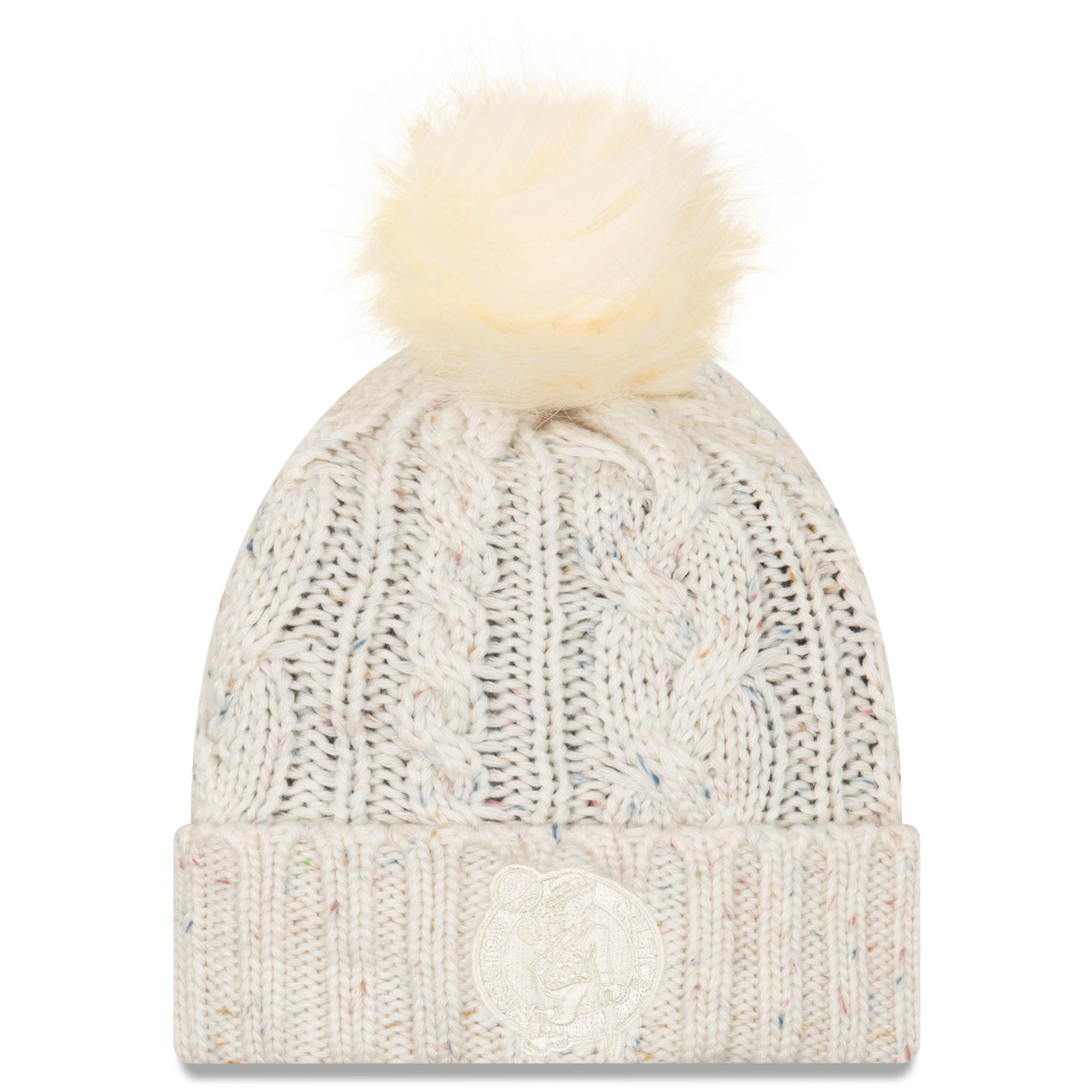 pretty cheap wide varieties retail prices Boston Celtics New Era Women's Fuzzy Cuffed Knit Hat with Pom ...