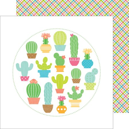 Fun In The Sun Double Sided Cardstock 12 X12  Paradise Plaid
