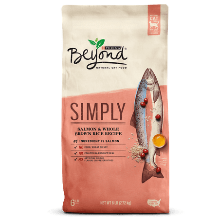 Limited Edition Halloween Food (Purina Beyond Natural Limited Ingredient Dry Cat Food, Simply Salmon & Whole Brown Rice Recipe - 6 lb.)